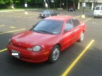 1995 Plymouth Neon Sedan Red Chrysler Dodge $600 AS IS