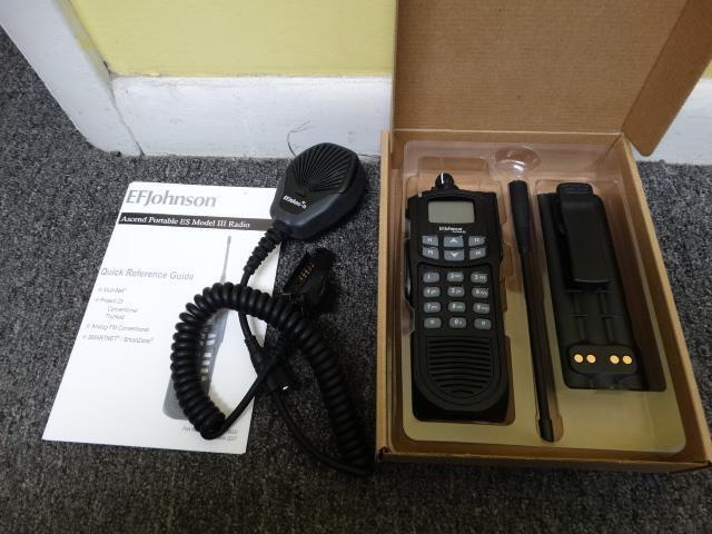 EF Johnson Ascend ES 5100 700/800 MHz FM Digital P25 AES DES FPP Trunking Radio