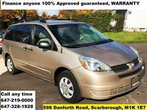 2004 Toyota Sienna CE FINANCE 100% GUARANTEED APPROVED WARRANTY