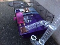 Cage for hamster/mouse with accessories