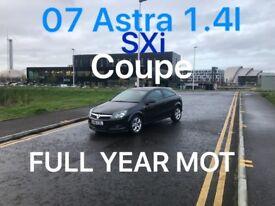 £1395 2007 Astra SXi Coupe 1.4l* like focus megane golf punto fiesta civic A3 A4 subaru corsa