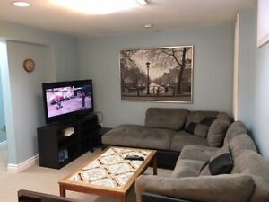 One Bedroom furnished apart, with utilities cable and internet