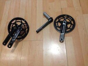 2 pedalier pour velo rotor etais sur velo cervelo compact 50 34
