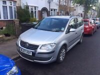 2007 VW Touran S 1.6 Petrol silver 7 seater MPV People carrier family car 7 seats 5 door Cheap Sale