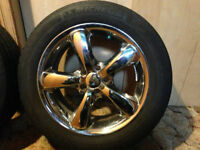 """16"""" Chrome Rims with Michelin X Radial Tires {205/55/R16}"""