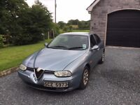 2003 Alfa Romeo 156 Turismo JTD 1910cc Diesel, 4 Door, Manual, 216000 miles, MOT to Nov 2016