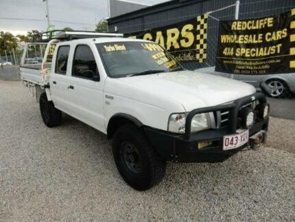 2004 Ford Courier PH XL Crew Cab White 5 Speed Manual Utility Kippa-ring Redcliffe Area Preview