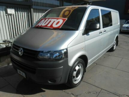 2010 Volkswagen Transporter T5 MY10 132 TDI LWB Low Silver 7 Speed Auto Direct Shift Van