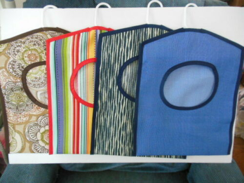 """Clothes Pin Bags,  sturdy outdoor fabric - 16.5""""L x  13""""W,    Set #1"""