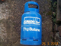 Empty butane gas bottle, 7 kg, could suit caravan campervan or heater, collect from Pontardawe SA8..