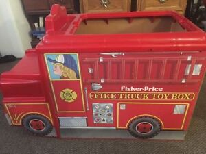 Fisher Price Fire Truck Toy Box Vintage 1984