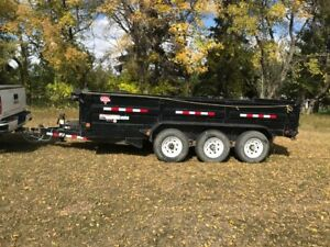 2016 16foot PJ Tri-Axl Dump Trailer