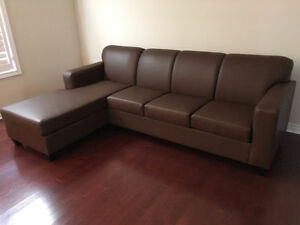 "BRAND NEW Cozy n Comfy Sectional $850 104"" by 70"" PERFECT FIT"