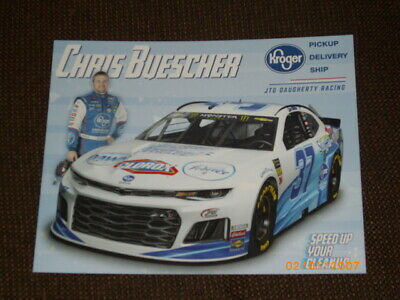 2019 CHRIS BUESCHER #37 SPEED UP YOUR CLEANUP NASCAR POSTCARD