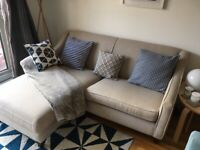 CORNER SOFA- PEBBLE WEAVE COLOUR (BOUGHT FROM 'MADE')