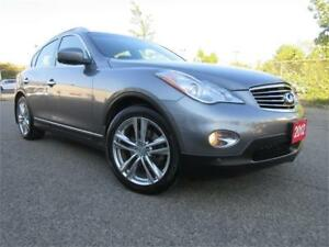 2012 INFINITI EX35-S ROOF,LOW KM,LEATHER,R CAM,WARRANTY,$16,495