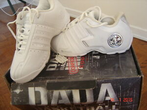 A brand new white DADA Spree's low top