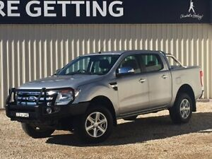 2012 Ford Ranger PX XLT 3.2 (4x4) Silver 6 Speed Manual Dual Cab Utility Windradyne Bathurst City Preview