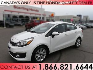 2016 Kia Rio EX | NO ACCIDENTS | 1 OWNER | LOW KM'S!!