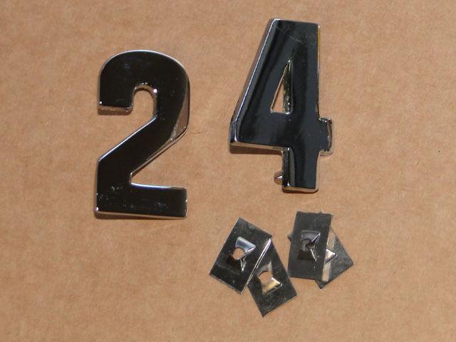 PS Zahlen für Lanz Bulldog D 2416 aus Metall verchromt auf die Motorhaube Foto 1