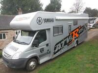 IVECO DAILY RACEMASTER 5/6 BERTH, HUGE REAR GARAGE RACETRUCK/MOTORHOME FOR SALE