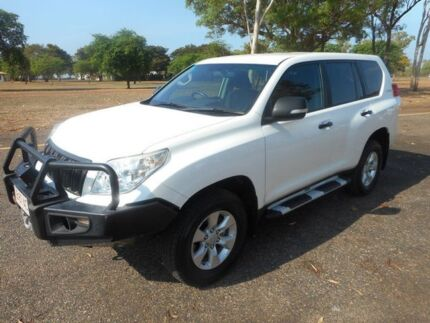 2011 Toyota Landcruiser Prado KDJ150R GX White 5 Speed Sports Automatic Wagon