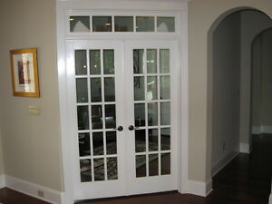 Two interior french doors