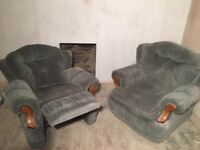 Recliner Chairs x2