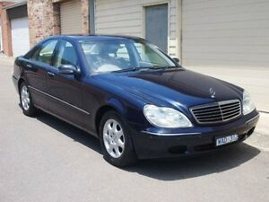 2002 Mercedes-Benz S320 W220 Embassy Blue 5 Speed Automatic Sedan Petersham Marrickville Area Preview