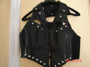 Ladies Leather Small Vest