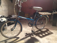Vintage 1970s Raleigh 20 Twenty Bicycle Bike, Whitewall tyres, Dynamo Light Rare!