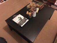 Coffee table black/brown