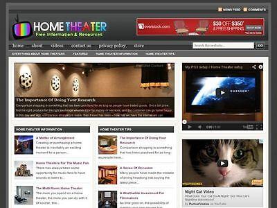 Home Theater   Av Components Turnkey Wordpress Blog Website For Sale