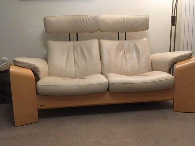 Ekornes recliner 2 seater settee