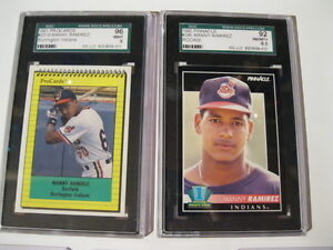 5 MANNY RAMIREZ CARDS WITH 2 GRADED London Ontario image 1