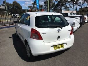 2006 Toyota Yaris NCP90R YR White 4 Speed Automatic Hatchback