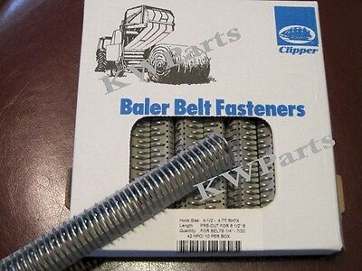 Clipper belt hook lacing round baler repair fasteners 4-1/2 - 4 RHTX 02435