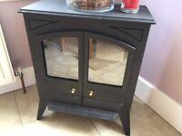 Black electric stove