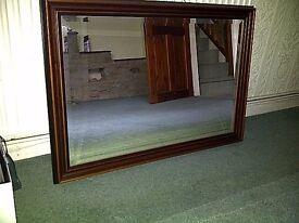 mahogany colour framed mirrors