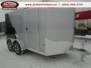 Motorcycle all aluminum NEO 7X12' tandem axle trailer - two tone