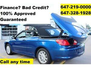 2009 Chrysler Sebring CONVERTIBLE FINANCE 100% Approved WARRANTY