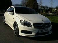 2015 MERCEDES BENZ A250 2.0 211BHP 7G-DCT AUTOMATIC ENGINEERED BY AMG IN WHITE