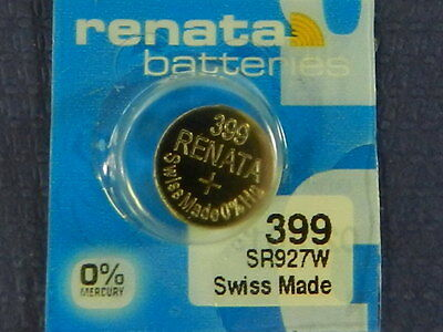 RENATA Watch Battery #399 /SR927W Swiss Made 1Pc