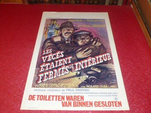Cinema Poster Original Belgian Veces Were Firms Of L