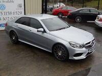 MERCEDES-BENZ E CLASS E250 CDI AMG SPORT AUTO 202 BHP 4DR SALOON (FINANC (silver) 2014