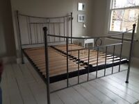 Beautiful Wrought Iron Double Bed Frame with slatted base