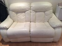 Free 2 recliner leather sofa( gone)