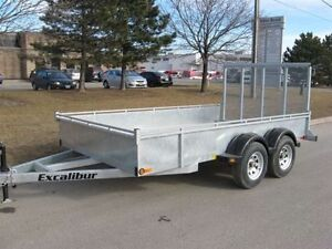 "2017 EXCALIBUR GALVANIZED 3.5 TON 80""X12' LANDSCAPER TRAILER Kingston Kingston Area image 2"