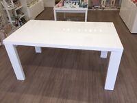 Habitat Asper White Lacquer Table 8 Seater