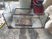 Various glass fish tanks
